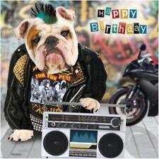 3D Bulldog Olografica Compleanno Carta Quadrato biglietti d'auguri