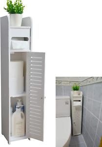 Small Bathroom Storage Corner Floor Cabinet with Doors and Shelves