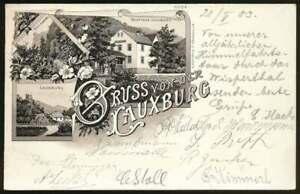 AK Gruss von der Lauxburg, Lithographie, gelaufen 1903 (65898)