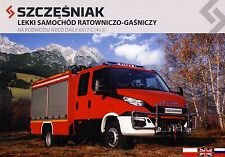 Iveco Daily 6517 2015 catalogue brochure Fire truck pompiers rare English Polish