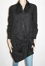 Morning Mist Designer Black Gob Smacked Shirt Dress Size 8-XS BNWT #TA114