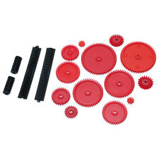 18 Piece Assorted Gears Starter Pack Plastic Cog Wheels Models Rack Pinion Bevel