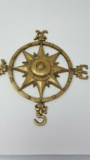 "Brass Nautical Decor Nsew Trivet / Wall Hanging Star Center 6.5"" Shipping Vane"