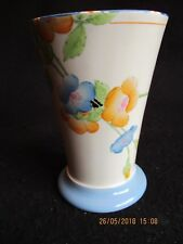 "ART DECO CROWN DUCAL 'ROSEMARY' HAND-PAINTED 5"" FLORAL VASE c.1934 Nr mint!"