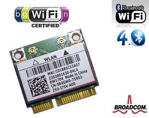 + Broadcom BCM943142HM Windows®10 DW1704 WLAN Bluetooth 4.0 Card Mini PCIe +