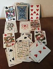 Hermes Playing Cards Bridge Cassandre Paris France Joker 1948 Gilt Edge