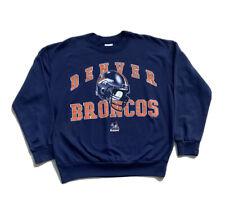 Vintage Denver Broncos Blue Crewneck Sweatshirt Men's L 90's NFL