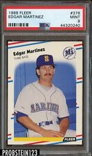 1988 Fleer #378 Edgar Martinez Seattle Mariners RC Rookie PSA 9 MINT