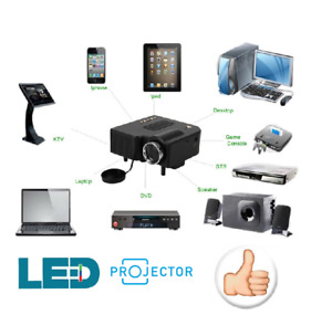MINI PROIETTORE PER CAMPER E CASA LED -HDMI-TELECOMANDO