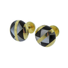 of Pearl Inlay Gold Cufflinks Tiffany & Co Onyx Mother