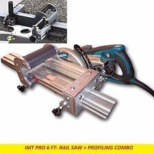 IMT PRO Wet Cutting Makita Motor Rail Saw + EDGE Profile for Granite - 6 Ft Rail