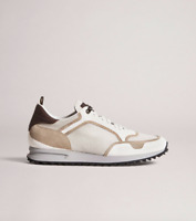 NWB $595 Dunhill Sneakers/Trainers RADIAL RUNNER Leather Detail US 9  UK 8 EU 42