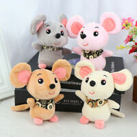 12cm Rat Year Baby Kids Cute Soft Plush Small Mouse Doll Hamster Toy KeyChai`