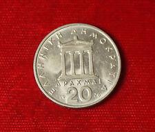 Münze Coin Griechenland 20 Drachme Drachmen Drachmai Apaxmai 1976 (H5)