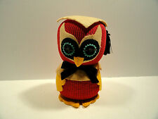Vintage Professor Owl Sock Plush Doll