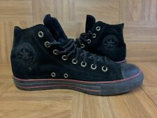 VNTG🔥 Converse Chuck Taylor All Star Black Red Suede Leather Sz 9 Men's HI Top