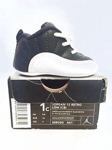 Nike Jordan 12 Retro Low (CB) Crib 308320-441 Obsidian White XII 1c