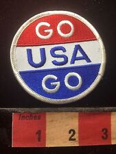 Souvenir GO USA GO Patch ~ Show Your Patriotism - United States Of America 73X6