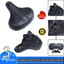 Big Wide Bum Saddle Seat Bike Bicycle Sporty GEL Cruiser Extra Comfort Soft Pad