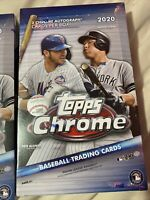 Topps 2020 Chrome Baseball Hobby Box Cards SEALED 2 autos