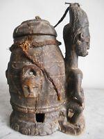 Pot BAOULE 30cm  ART TRIBAL ETHNIQUE PRIMITIF AFRICAIN BAULE  FETICHE