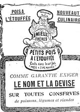 AMIEUX FRERES CONSERVES PETITE PUBLICITE 1904