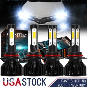 for Honda Accord Sedan 2008-2012 Hi/Low Beam LED Headlight Bulbs Bright White 4X