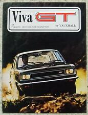 VAUXHALL VIVA GT Car Sales Brochure 1968 #V1826/3/68