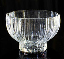Rosenthal Crystal Bowl Signed Style Ice Glass Germany