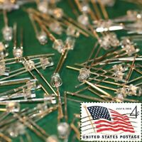 100x Green 3mm Flat Top LEDs Wide Angle Light Lamp USA