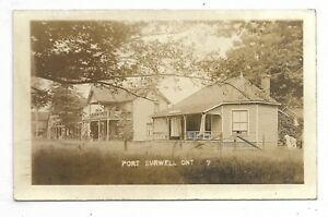 Elgin County PORT BURWELL, ONTARIO Black and White Real Photo Card - Circa 1920