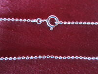 Sterling Silver 925  necklace chain Ball Bead diamond cut style 1mm 18 inches B