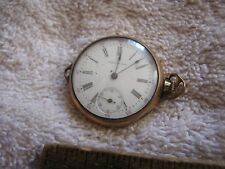 Antique Women's Waltham Pocket Watch Safety Barrel