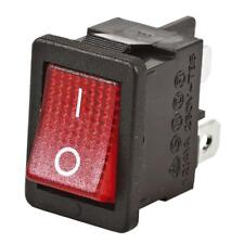 DPST Neon Illuminated - Mini Switch 250VAC 12A SK0995 Snap in Panel Mount