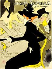 Henri Toulouse-Lautrec Divan Japonais Poster Kunstdruck Bild 78x60cm - Portofrei