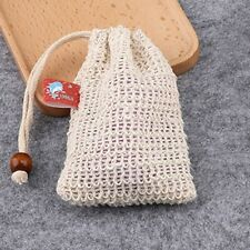 1-4Pcs Natural Sisal Soap Bag Soap Saver Net Mesh Exfoliator Foaming Pouch
