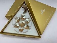 Swarovski Christmas Star 2010 Golden with Originalverpackung. Top Condition