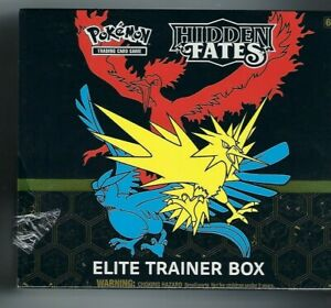 Pokemon Trading Card Game Hidden Fates Elite Trainer Box Factory Sealed