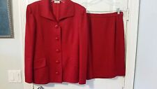 Valentino Boutique Red Skirt Suit - Size S
