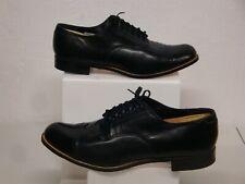 Vintage Stacy Adams Black Cap Toe Dress Shoes Size 12E