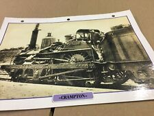 029 locomotive Crampton 1844 Fiche collection ATLAS trains de légende carte