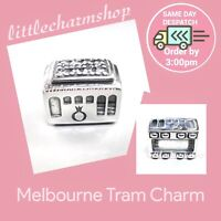 New Authentic Genuine PANDORA Silver Melbourne Tram Charm -791219CZ RETIRED