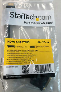 "StarTech HDMI to DVI-D Video Adaptor M/F 8"" New in Package"
