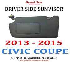 2013- 2015 Honda CIVIC COUPE Genuine Factory OEM DRIVER Sunvisor W/Mirror