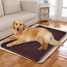 "45"" x 27"" Large Memory Velet Foam Pet Bed Dog Cat Puppy Pad Mat Cushion w/ Cover"