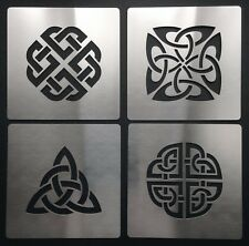 No1 Celtic Knot Love Dara Trinity Quaternary Shield Metal Stencil Template 4cm