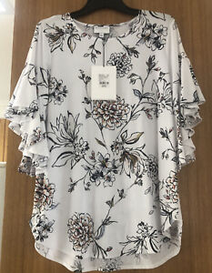 Witchery Size Small Geranium Ruffle Sleeve Top Rtp $99.95. Sell $ 55