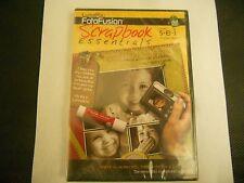NIP LumaPix Fotofusion Scrapbook Essentials Poppy SEI CD Software Digital