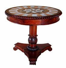 Solid Wood Antique Style Round Side & End Tables