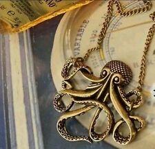 Charm Steampunk Fashion Gift Present Octopus Kraken Cthulu Necklace Pendant